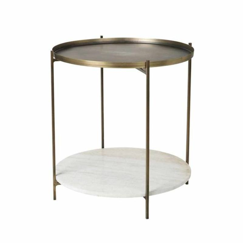 Tristan Tall Table Antique Brass Coffee And Side Tables Design Depot